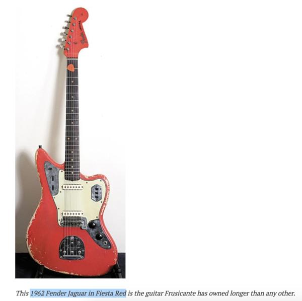 John Frusciante S 1962 Fender Jaguar Equipboard 174