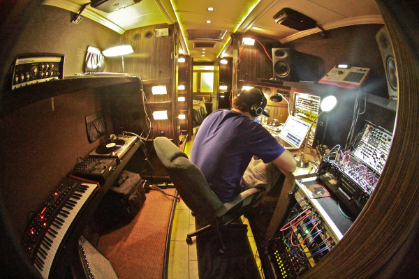The new set up - Tour Bus/Studio