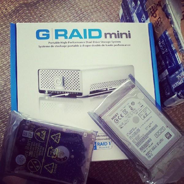 DJ Nucleya's G-RAID with Thunderbolt Storage System