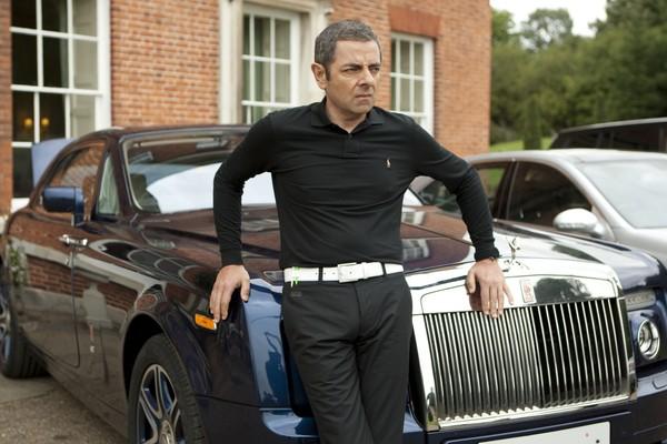 Rowan Atkinson's Hugo Boss Pinstripe Trouser Black