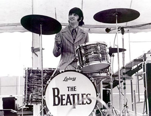 Ringo Starr's Ludwig Black Oyster Pearl Kit