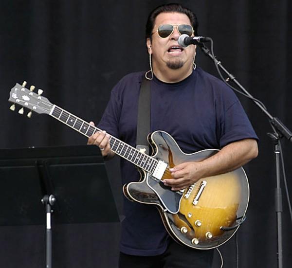 César Rosas's Gibson Lefthand ES-335 Sunburst
