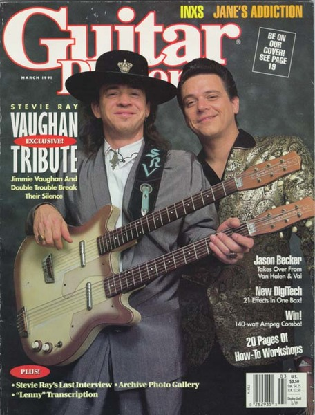 Stevie Ray Vaughan's Danelectro Longhorn Double-Neck Baritone Electric Guitar