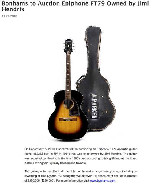 Jimi Hendrix's Epiphone FT-79 Texan