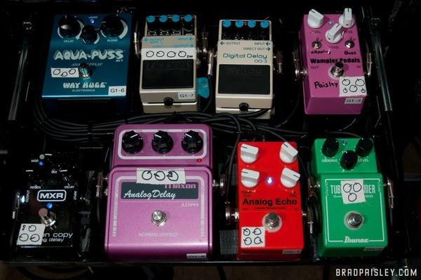 Brad Paisley's Way Huge Electronics Aqua-Puss MkII Analog Delay Guitar Effects Pedal