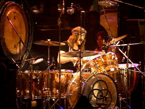 John Bonham's Ludwig Amber Vistalite Drumkit