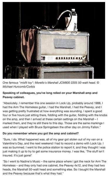 Tom Morello's Marshall JCM800 2205 50-Watt Amplifier Head