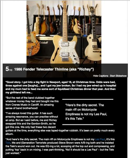 James Dean Bradfield's 1986 Fender Telecaster Thinline
