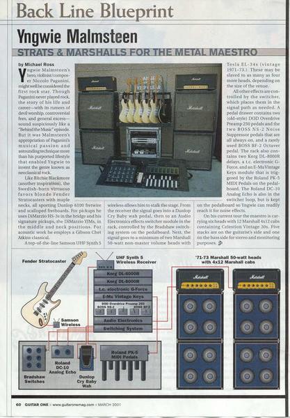 Yngwie Malmsteen U0026 39 S Roland Pk5 Dynamic Midi Pedal