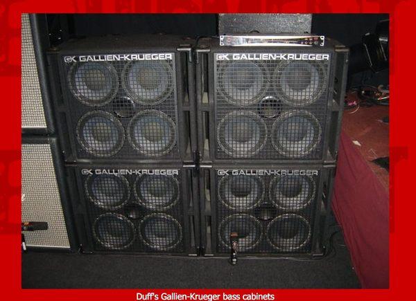 Duff McKagan's Gallien-Krueger 410RBH 800W 4x10 Bass Cab with Horn ...