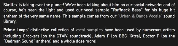 Skrillex's Prime Loops Urban & Dance Vocals