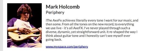 Mark Holcomb's Fractal Axe-Fx II Guitar Effects Processor