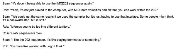 Autechre's Roland MC-202 MicroComposer