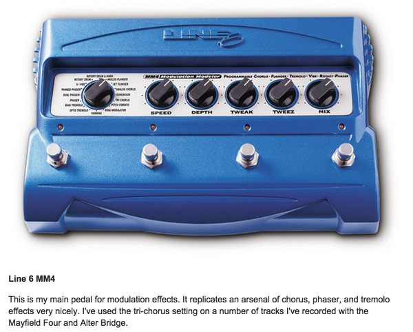 Myles Kennedy's Line 6 MM4 Modulation Guitar Effects Pedal