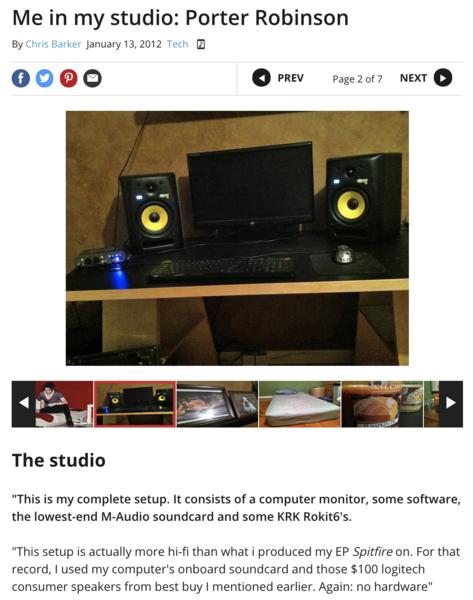 Porter Robinson's M-Audio Fast Track Pro Mobile USB Audio