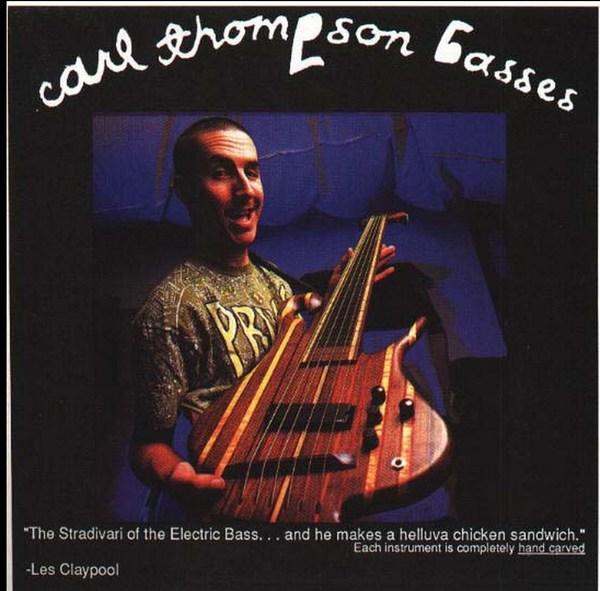 "Les Claypool's Carl Thompson 6-String Fretless ""Rainbow Bass"""