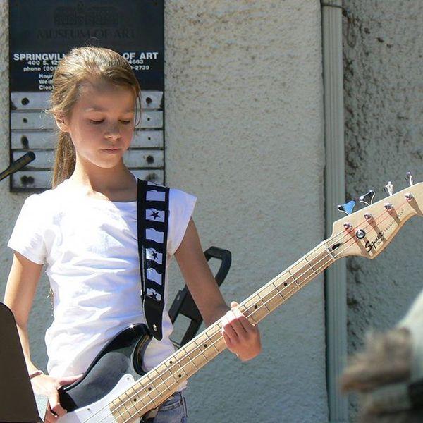 McKenna Petty's Squier Affinity Series Bronco Bass Guitar
