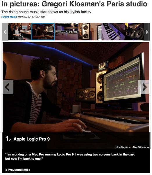 Gregori Klosman's Apple Logic Pro 9