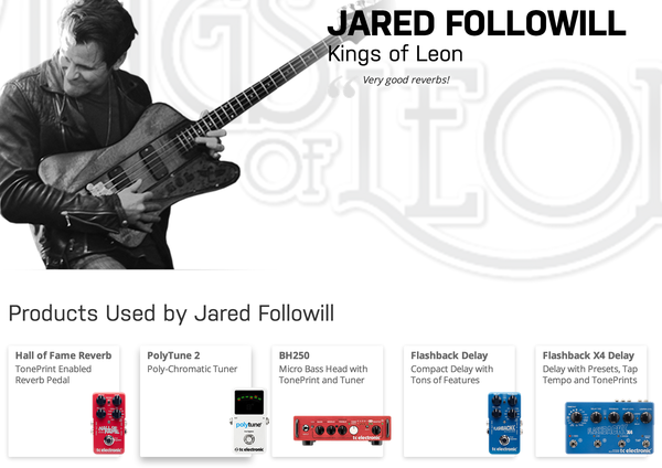 Jared Followill's TC Electronic Polytune 2 Pedal Tuner