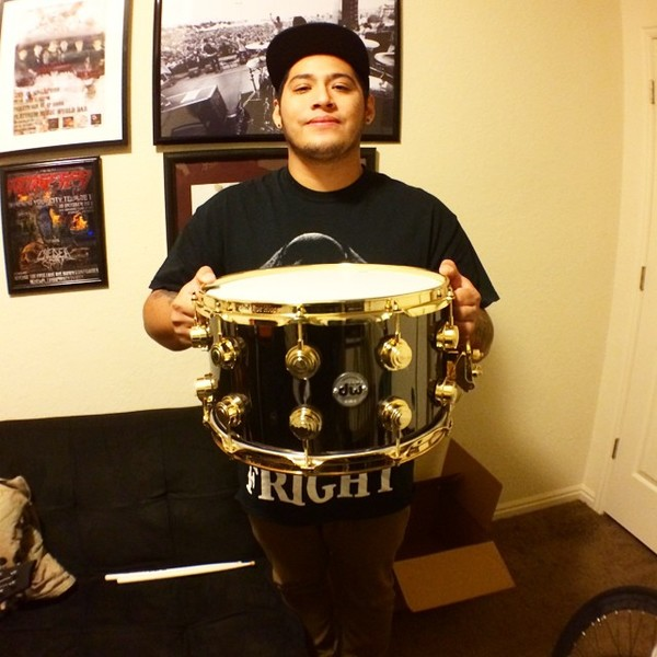 Pablo Viveros's DW Black Nickel Over Brass Snare Drum 14''x6.5''