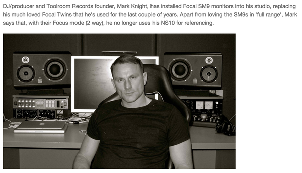 Mark Knight's Focal SM9 Active Studio Monitor