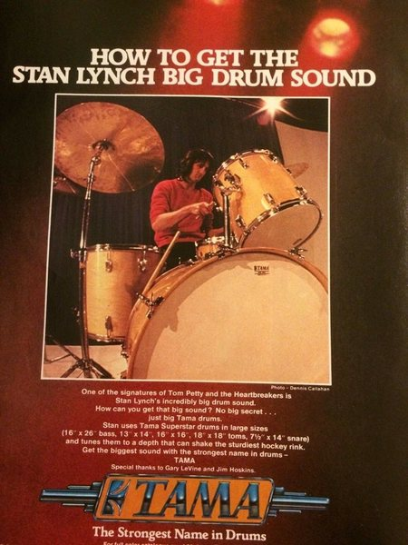 Stan Lynch's Tama Superstar (80s)