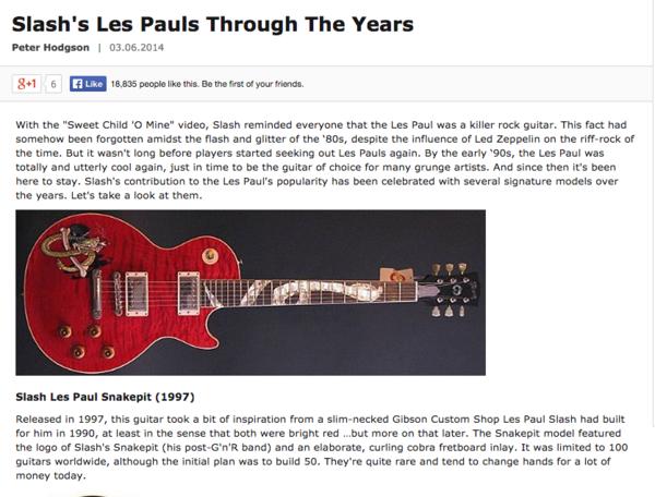 Slash's Gibson Les Paul Slash Snakepit Signature