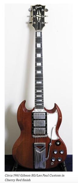 John Frusciante's Gibson SG/Les Paul Custom