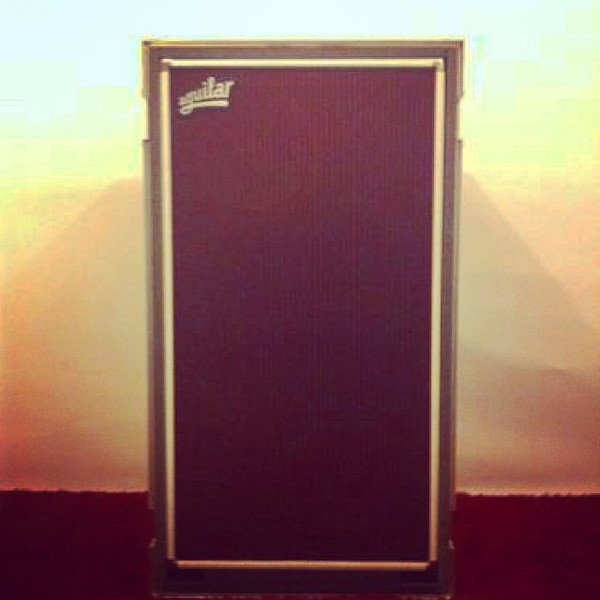 Bryan Donahue's Aguilar DB 412 Bass Cabinet, 4 Ohm, White Hot