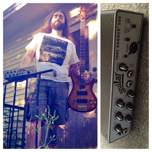 Peter Spinazola's Aguilar Tone Hammer 500 Head