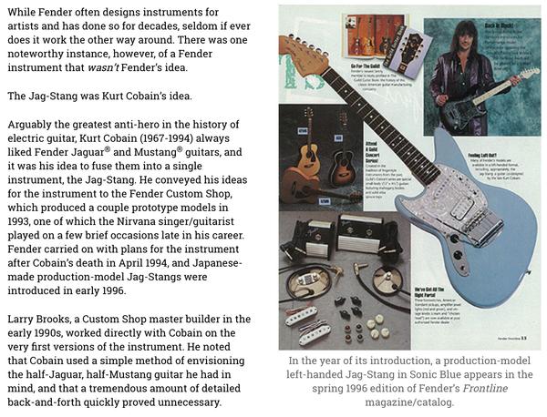 Kurt Cobains Fender Jag Stang Equipboard
