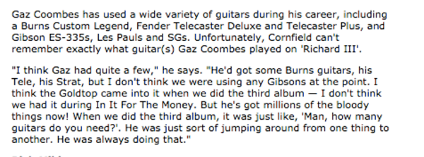 Gaz Coombes's Fender Telecaster Plus (Duplicate)