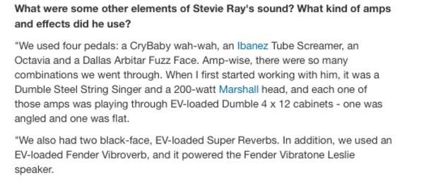 Stevie Ray Vaughan's Fender Vibratone Leslie speaker