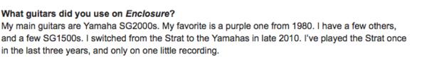 John Frusciante's Yamaha SG1500