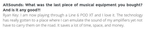 Ryan Key's Line 6 POD XT Live