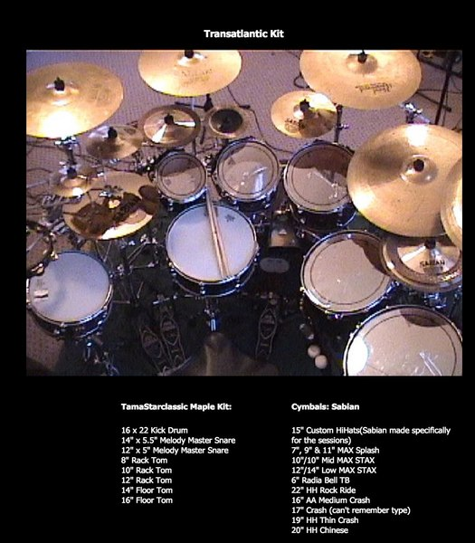 Mike Portnoy's Tama Starclassic (Maple)