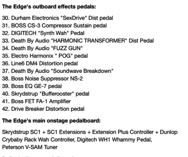 The Edge's Line 6 DM4 Distortion Modeler