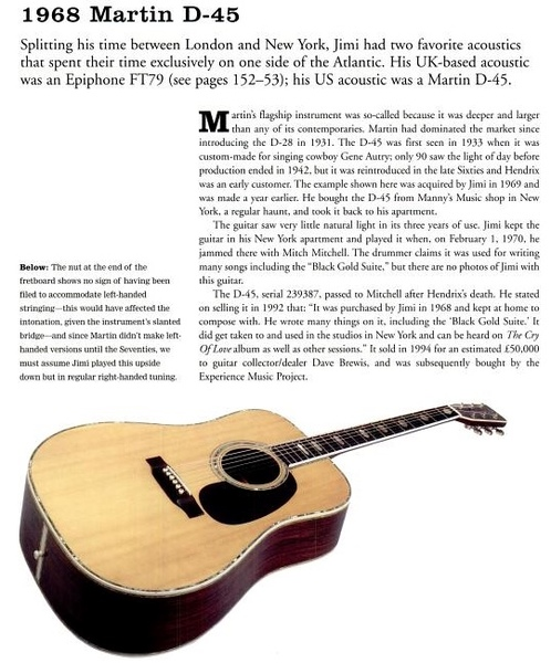 Jimi Hendrix's Martin D-45