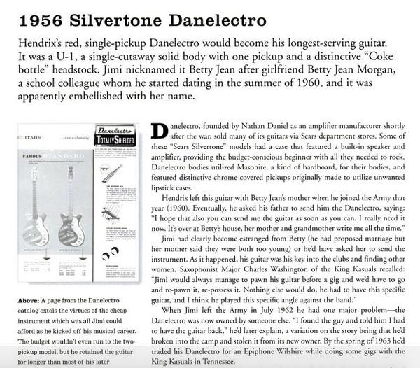 Jimi Hendrix's Silvertone Danelectro Electric Guitar