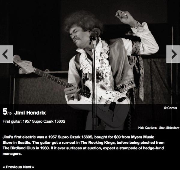 Jimi Hendrix's Supro Ozark 1560S Electric Guitar