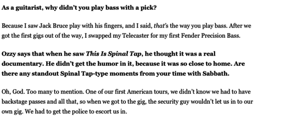 Geezer Butler's Fender Precision Bass