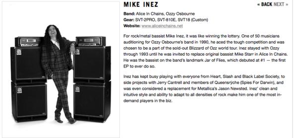 Mike Inez's Ampeg SVT-2 Pro Head
