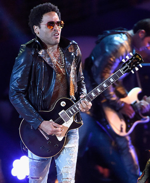 Lenny Kravitz's 1959 Gibson Les Paul Replica Black Over Flame Top Series