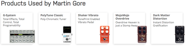 Martin L. Gore's TC Electronic Shaker Vibrato