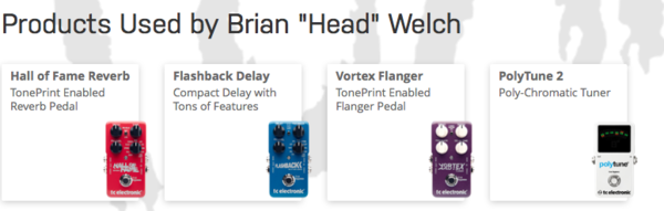 Brian Welch's TC Electronic Vortex Flanger TonePrint Series Guitar Effects Pedal