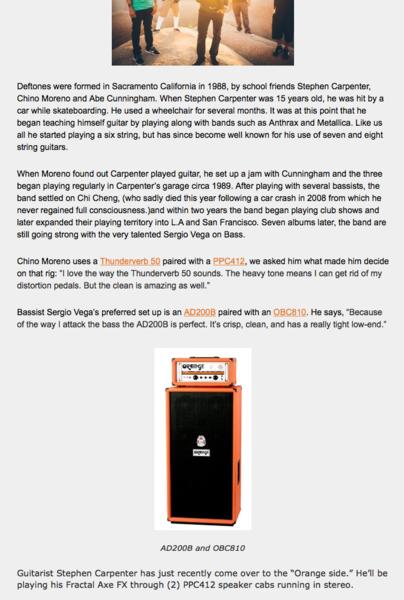 Stephen Carpenter's Orange PPC412 Guitar Speaker Cabinet